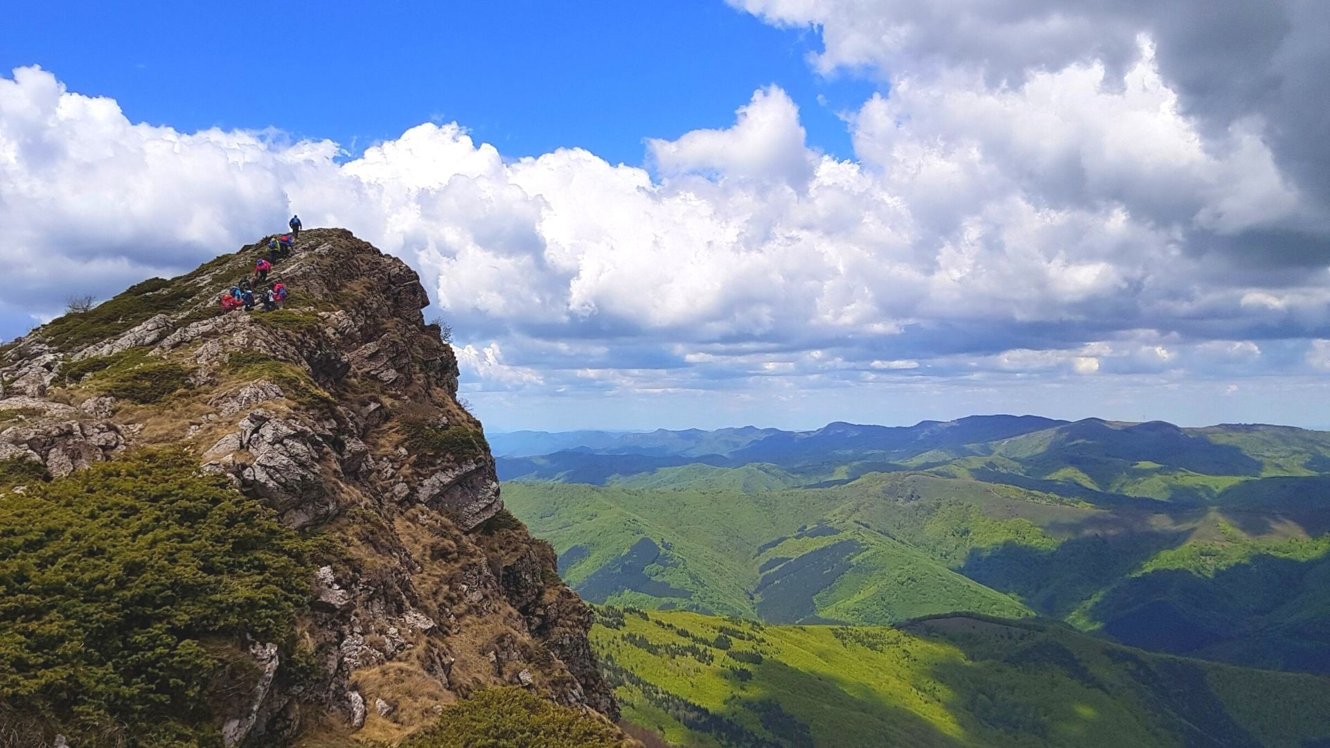 Панорама от връх Козя стена в Стара планина