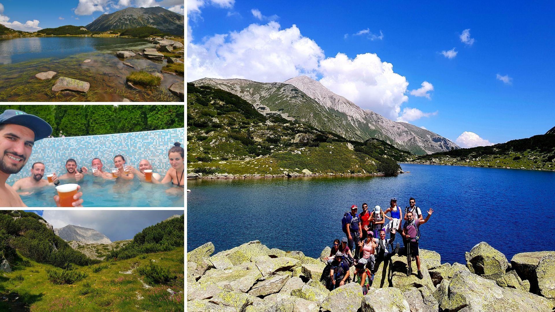 Панорама от Пирин, Бъндеришки езера и връх Вихрен, Пирин планина
