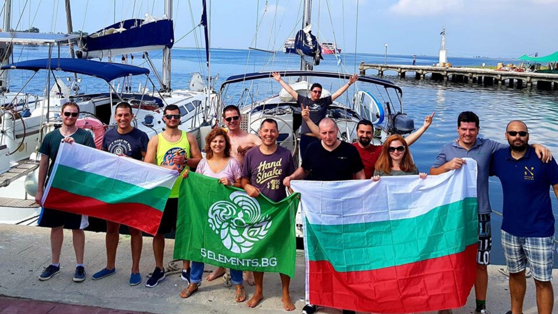 С яхта в Гърция